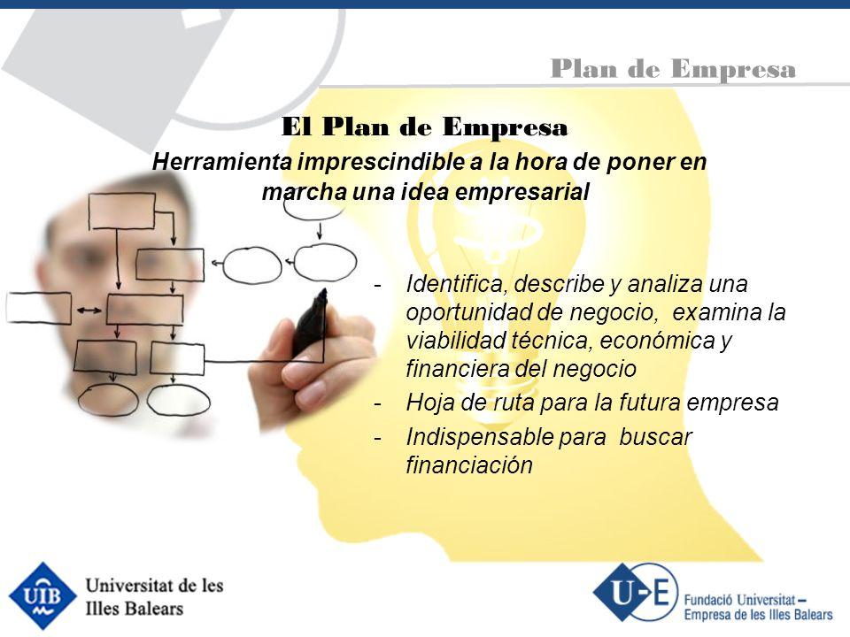 Plan de Empresa El Plan de Empresa