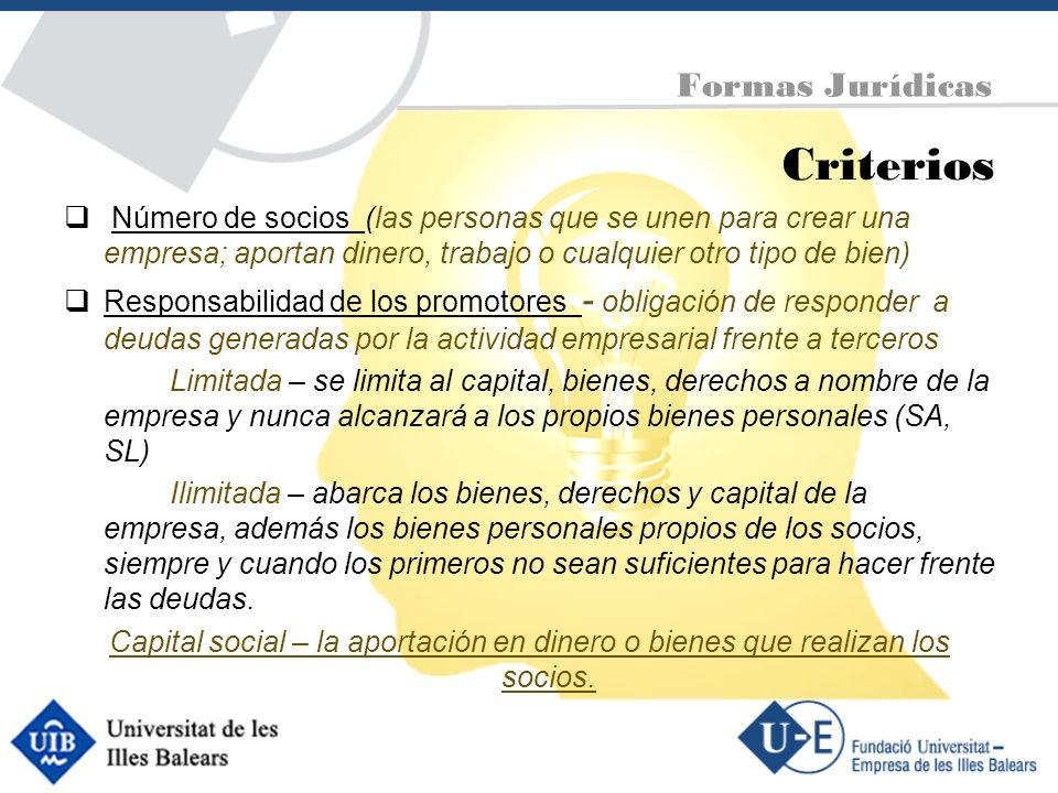 Criterios Formas Jurídicas