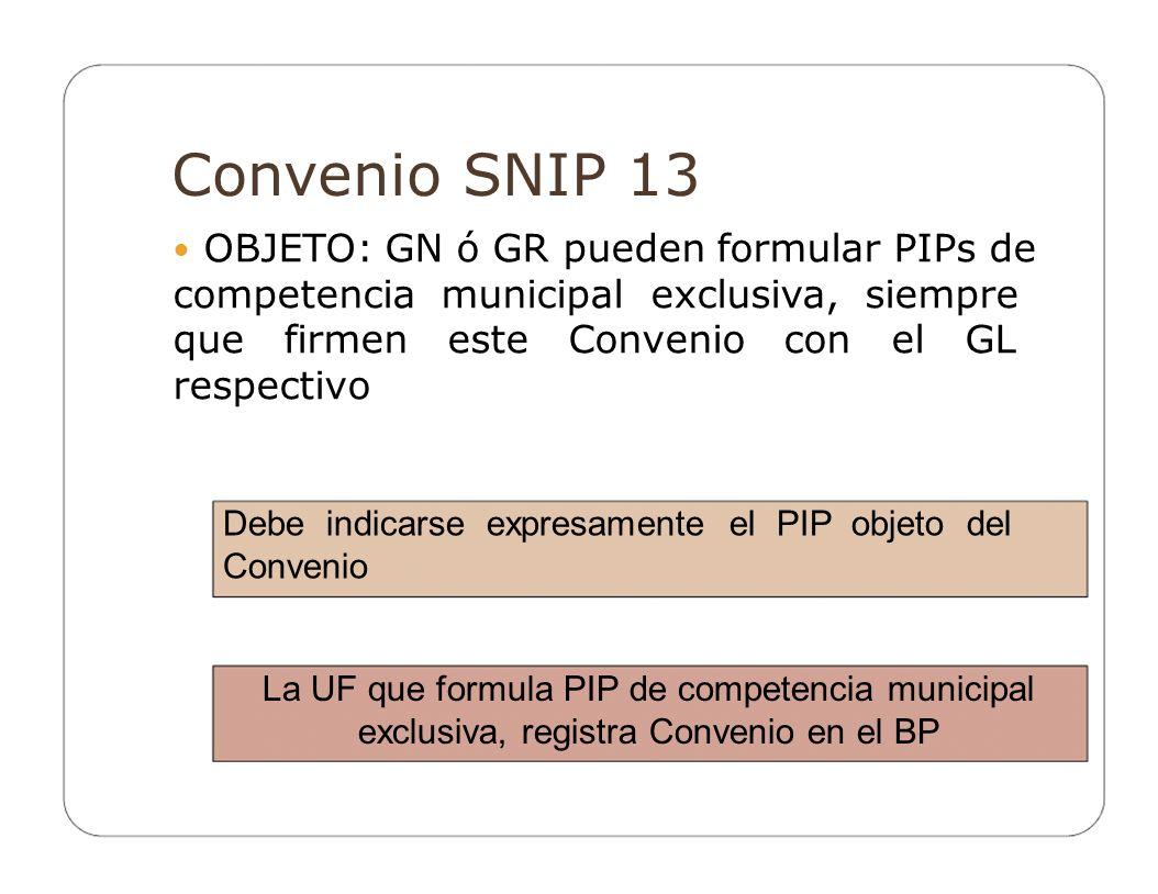 Convenio SNIP 13