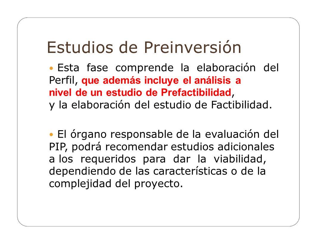 Estudios de Preinversión