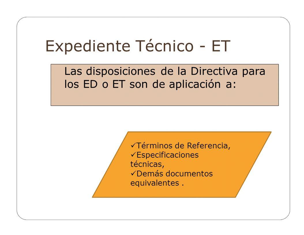 Expediente Técnico - ET