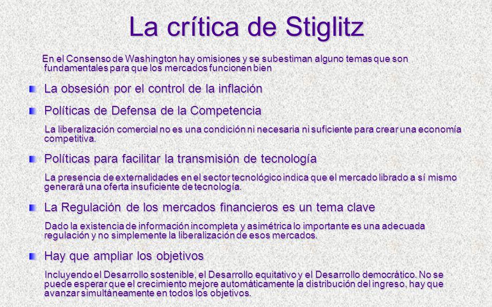 La crítica de Stiglitz La obsesión por el control de la inflación