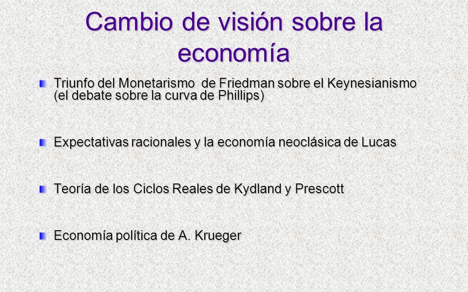 Cambio de visión sobre la economía