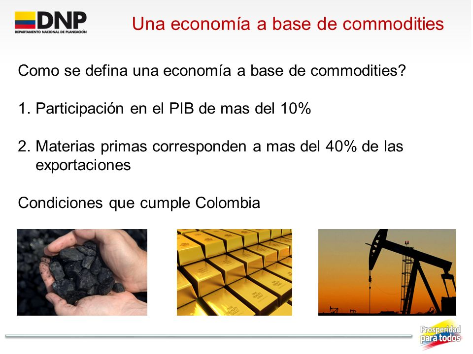 Una economía a base de commodities