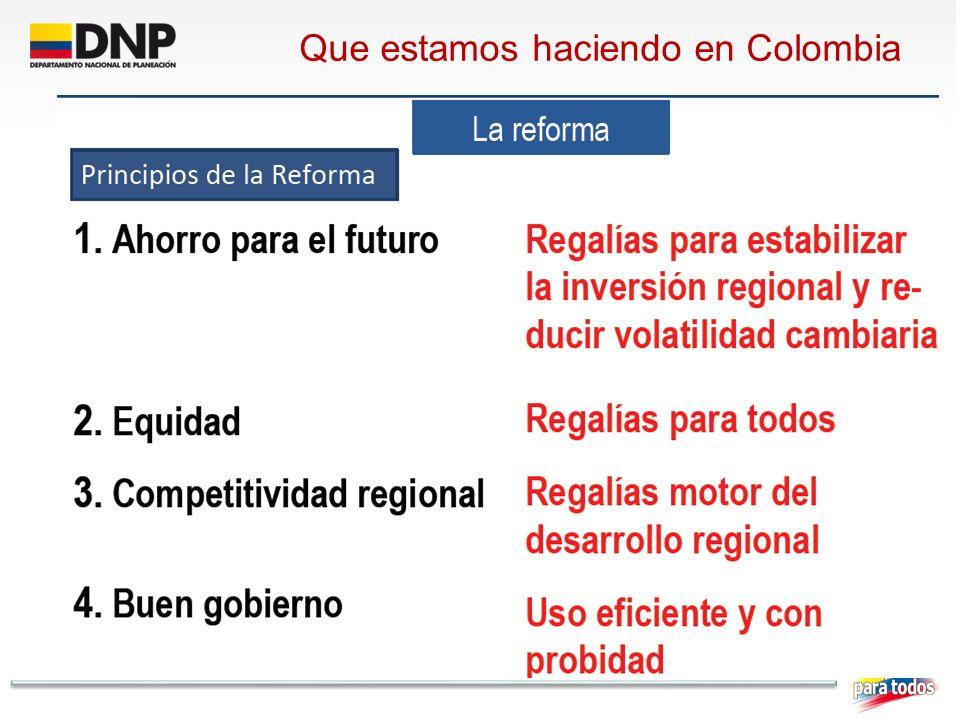 Que estamos haciendo en Colombia