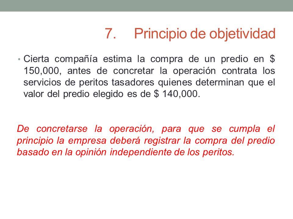 7. Principio de objetividad