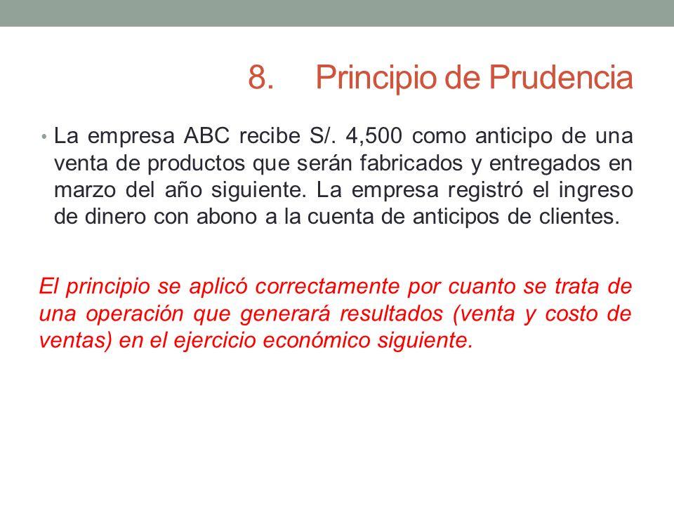 8. Principio de Prudencia