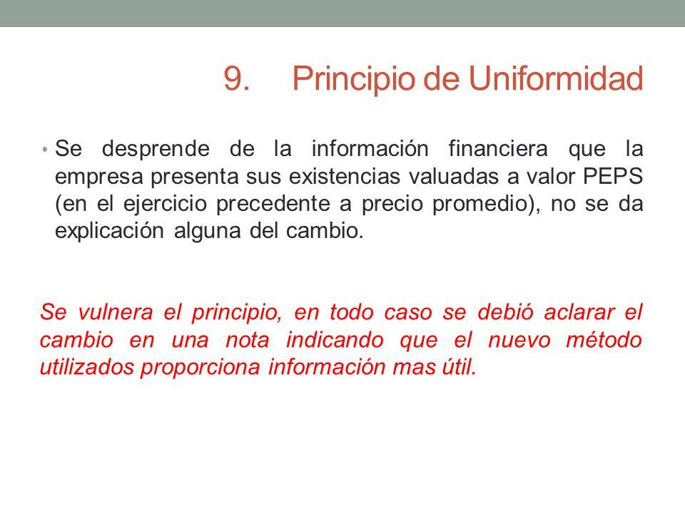 9. Principio de Uniformidad