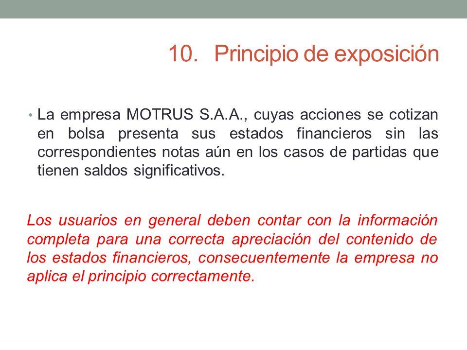 10. Principio de exposición