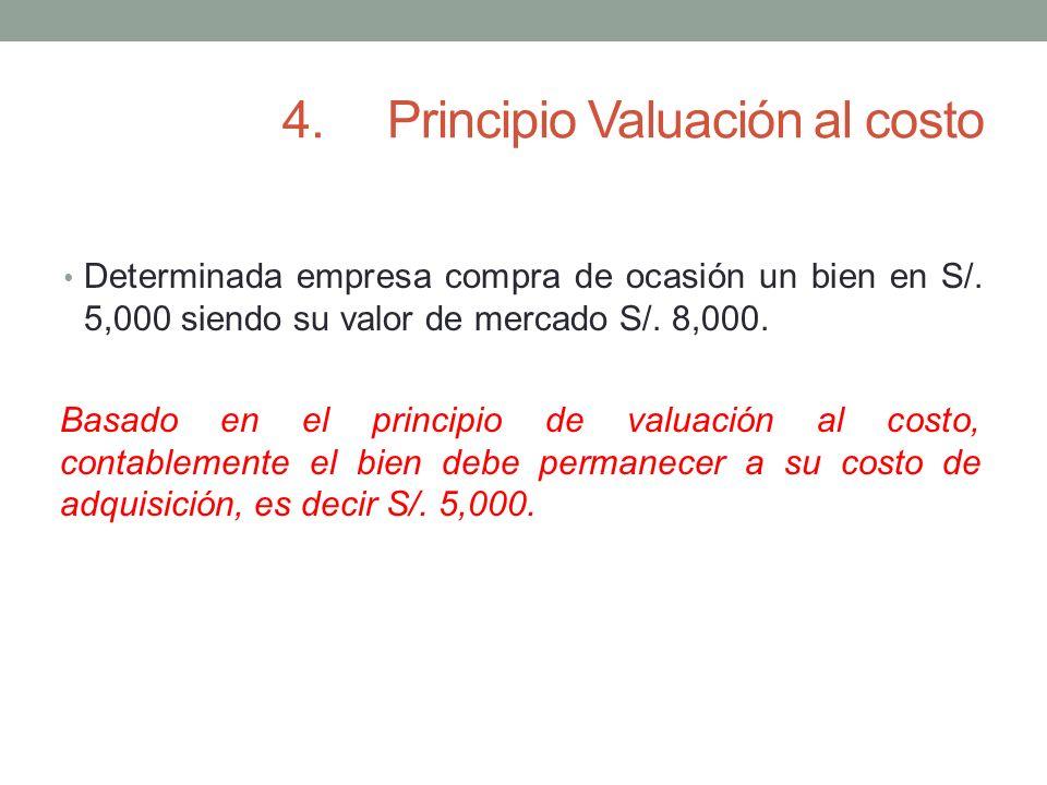 4. Principio Valuación al costo