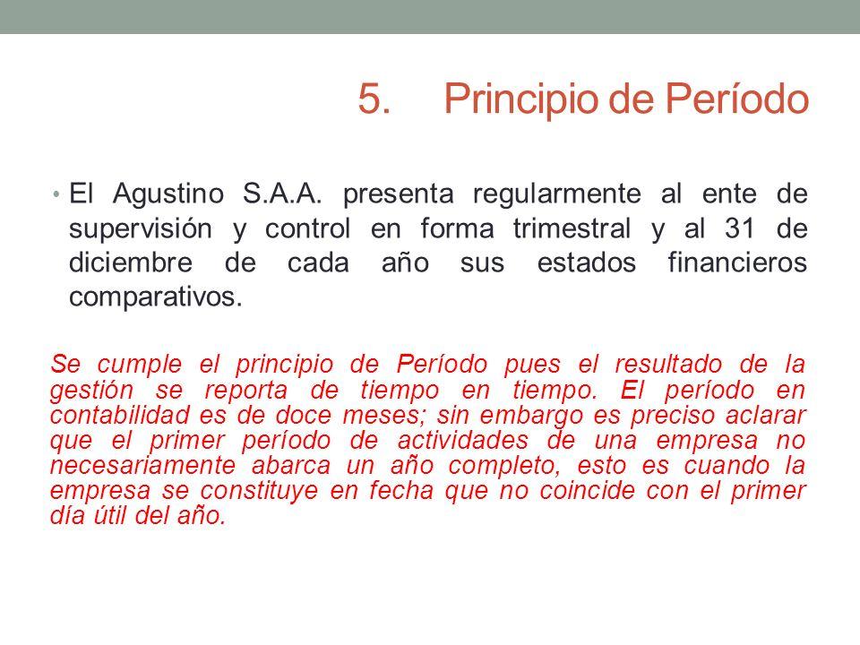 5. Principio de Período