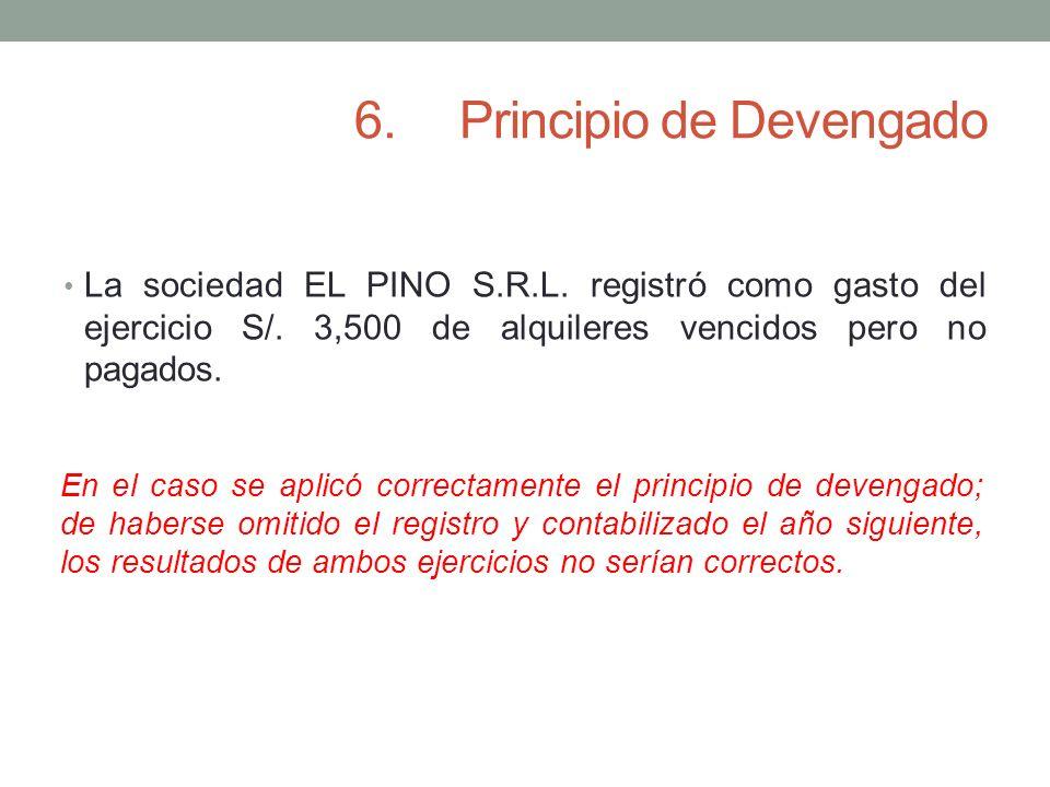 6. Principio de Devengado
