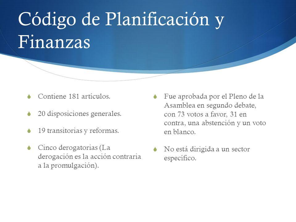 Código de Planificación y Finanzas