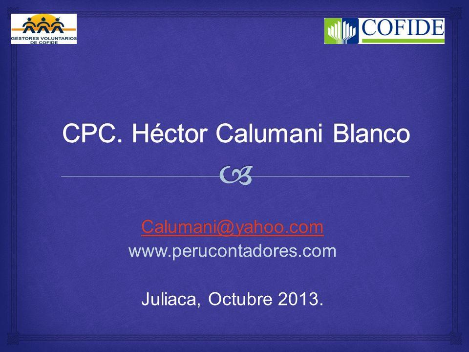 CPC. Héctor Calumani Blanco