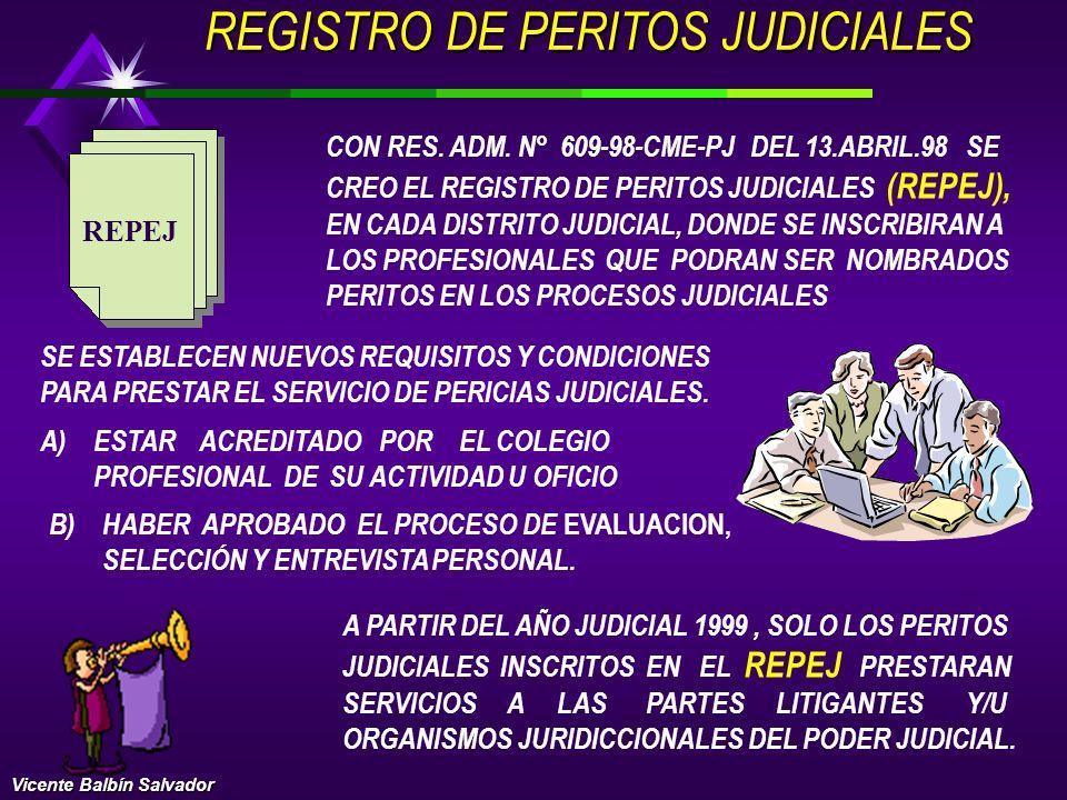 REGISTRO DE PERITOS JUDICIALES