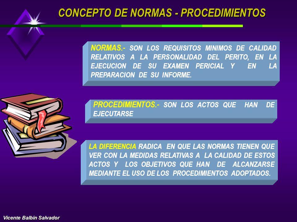 CONCEPTO DE NORMAS - PROCEDIMIENTOS