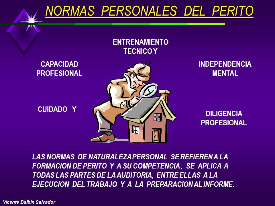 NORMAS PERSONALES DEL PERITO