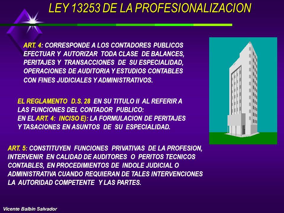 LEY 13253 DE LA PROFESIONALIZACION