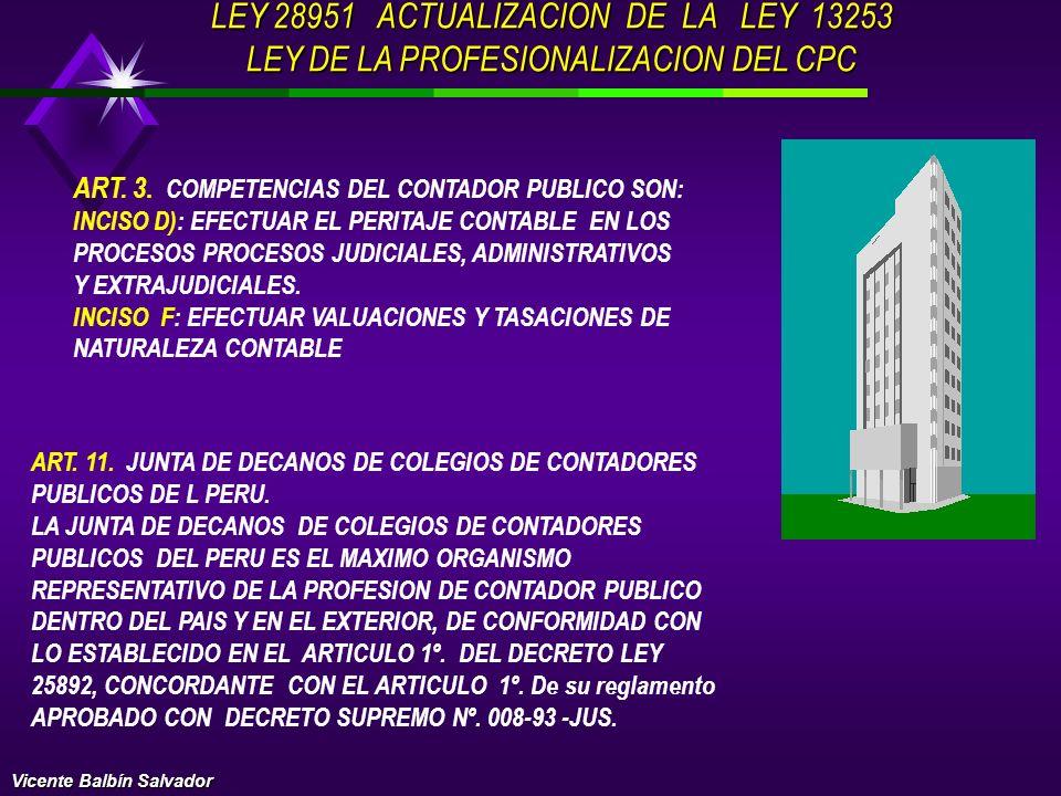 LEY 28951 ACTUALIZACION DE LA LEY 13253