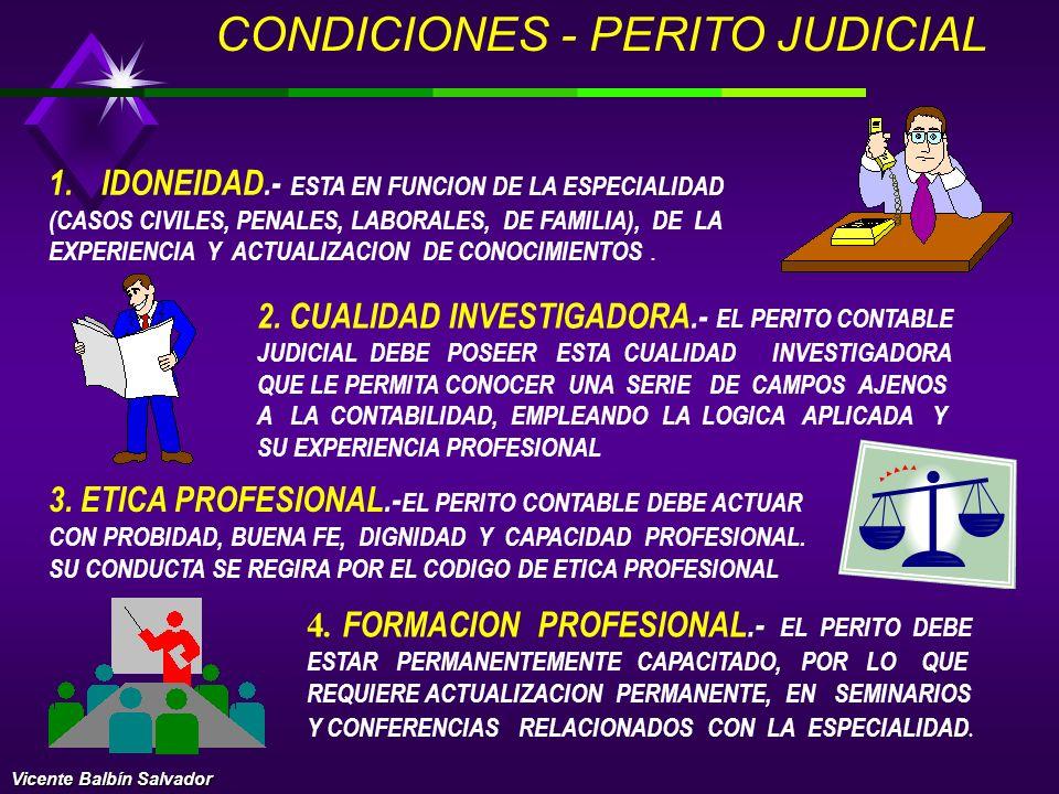 CONDICIONES - PERITO JUDICIAL