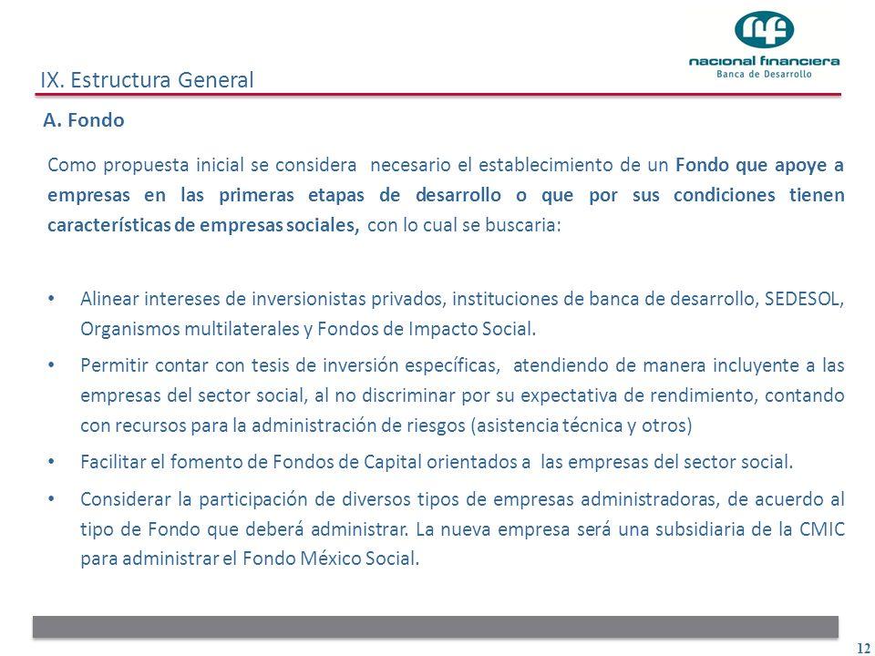 IX. Estructura General A. Fondo