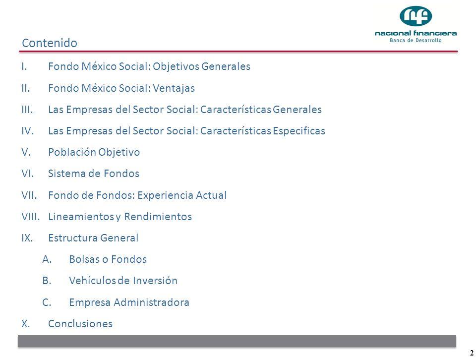 Contenido Fondo México Social: Objetivos Generales
