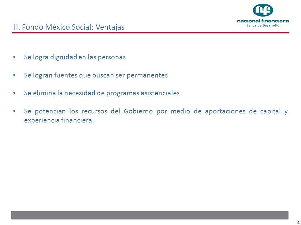 II. Fondo México Social: Ventajas