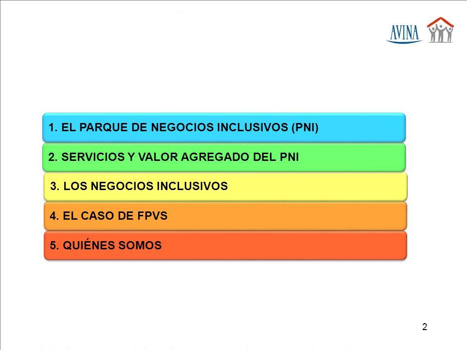 1. EL PARQUE DE NEGOCIOS INCLUSIVOS (PNI)
