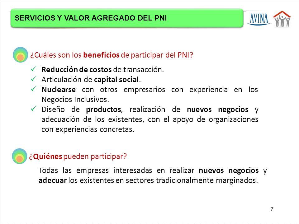 ¿Cuáles son los beneficios de participar del PNI