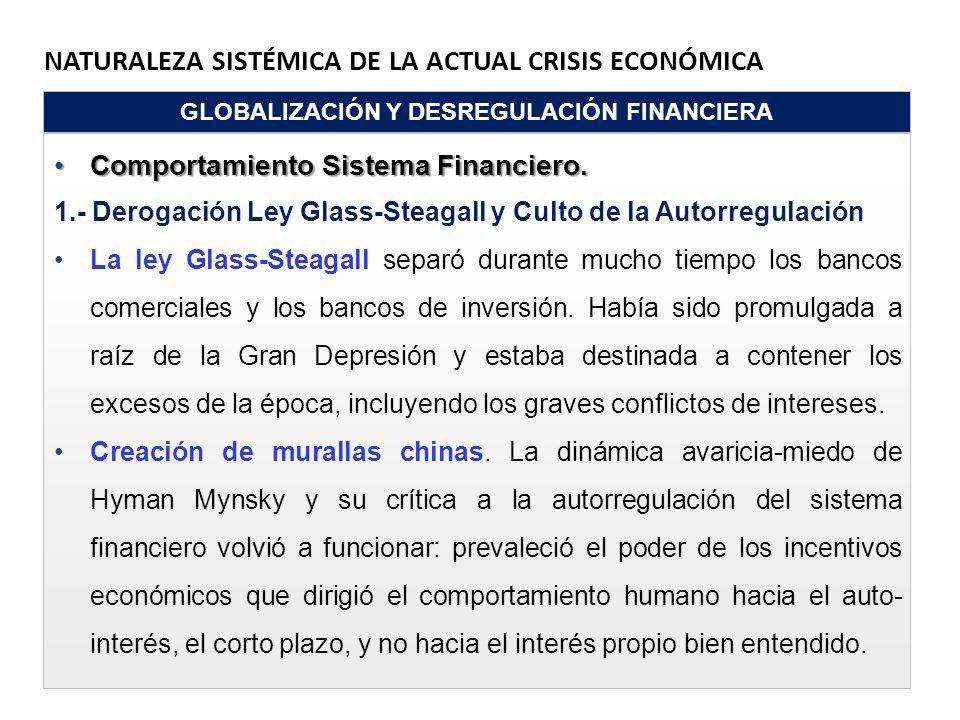 GLOBALIZACIÓN Y DESREGULACIÓN FINANCIERA