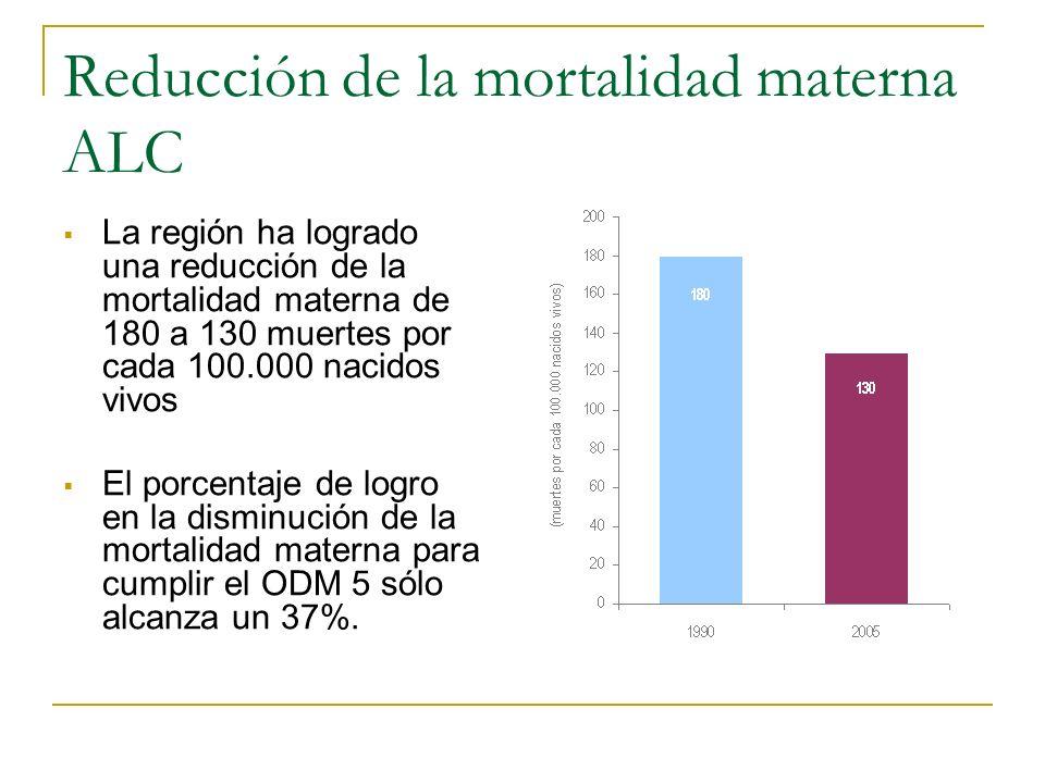 Reducción de la mortalidad materna ALC