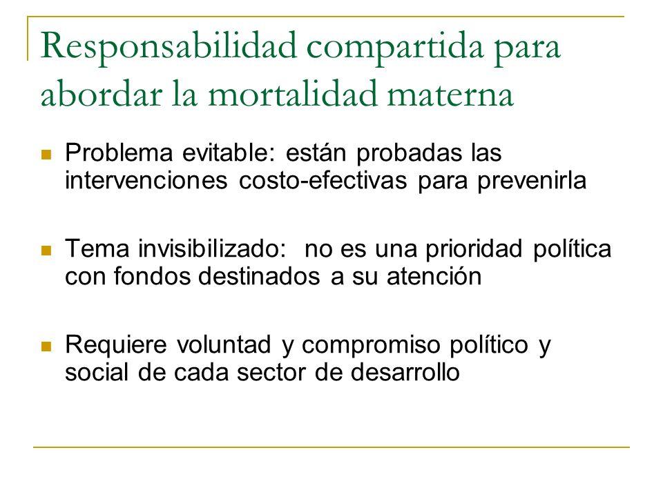 Responsabilidad compartida para abordar la mortalidad materna