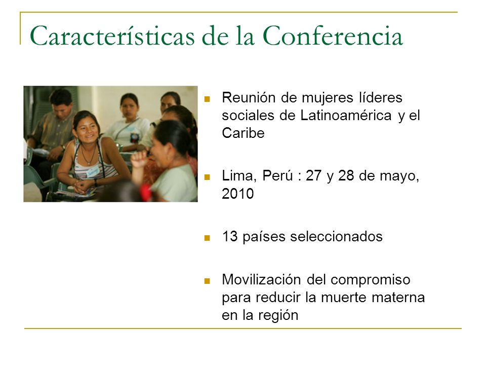 Características de la Conferencia