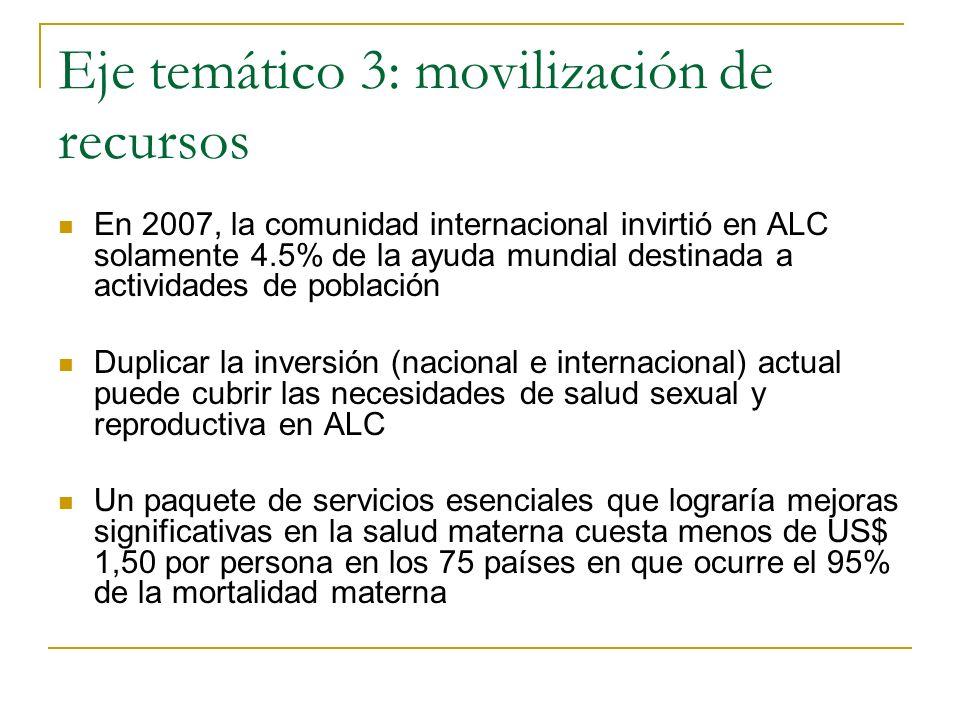 Eje temático 3: movilización de recursos