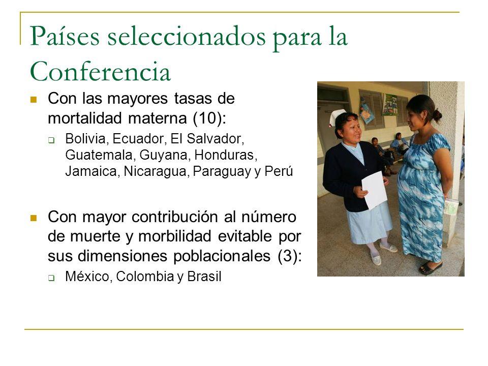 Países seleccionados para la Conferencia