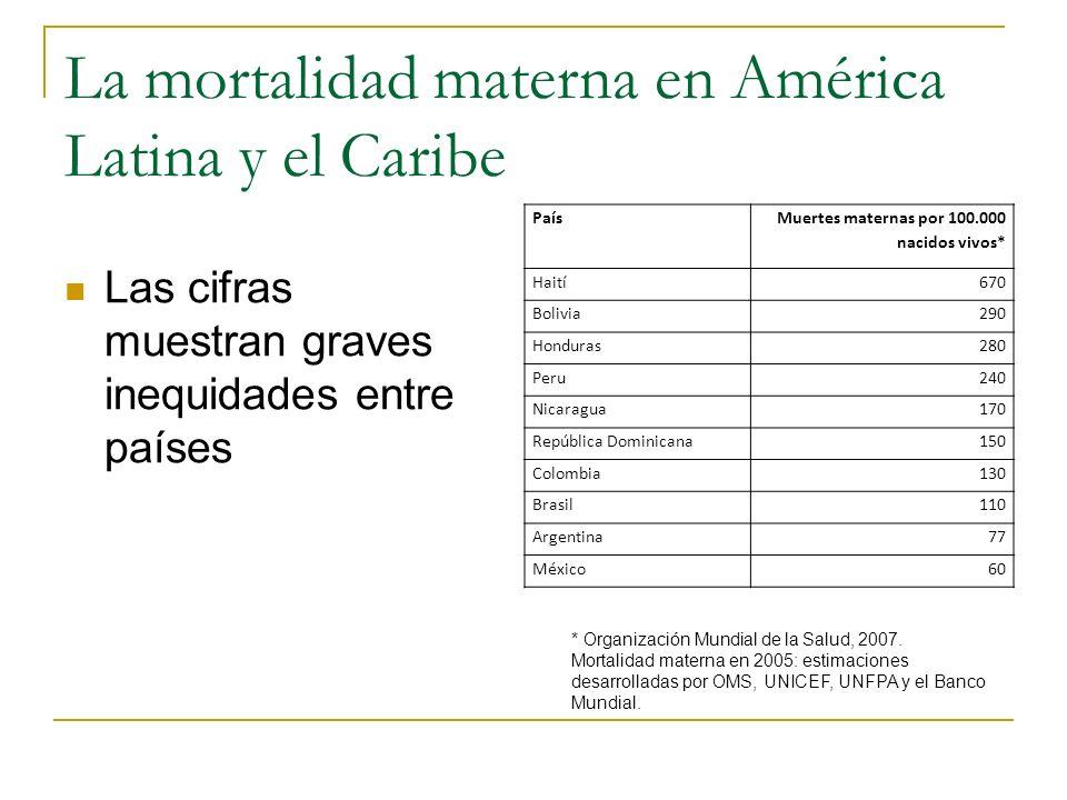 La mortalidad materna en América Latina y el Caribe
