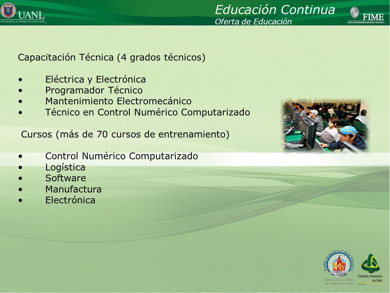 Educación Continua Capacitación Técnica (4 grados técnicos)