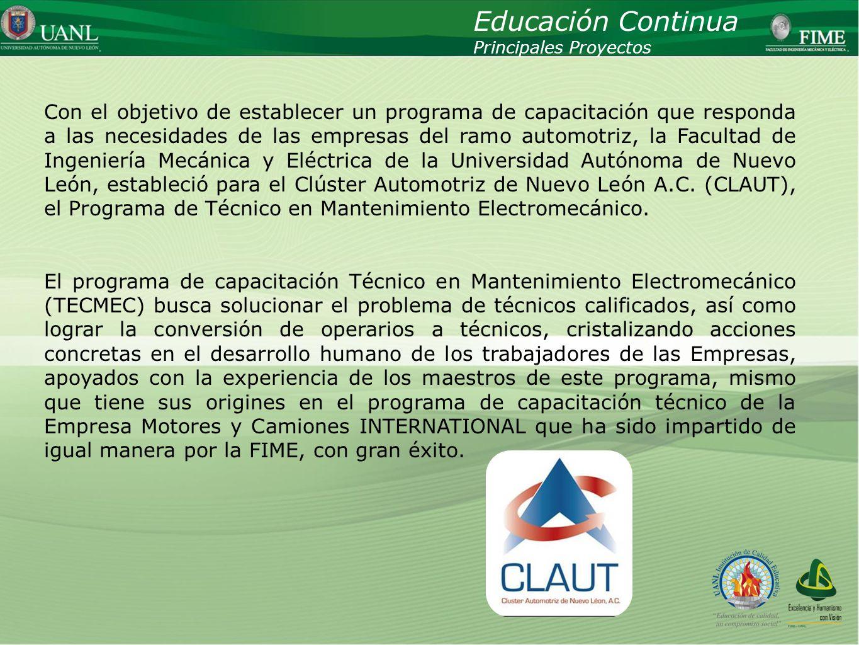 Educación ContinuaPrincipales Proyectos.