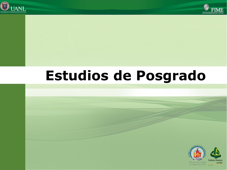 Estudios de Posgrado