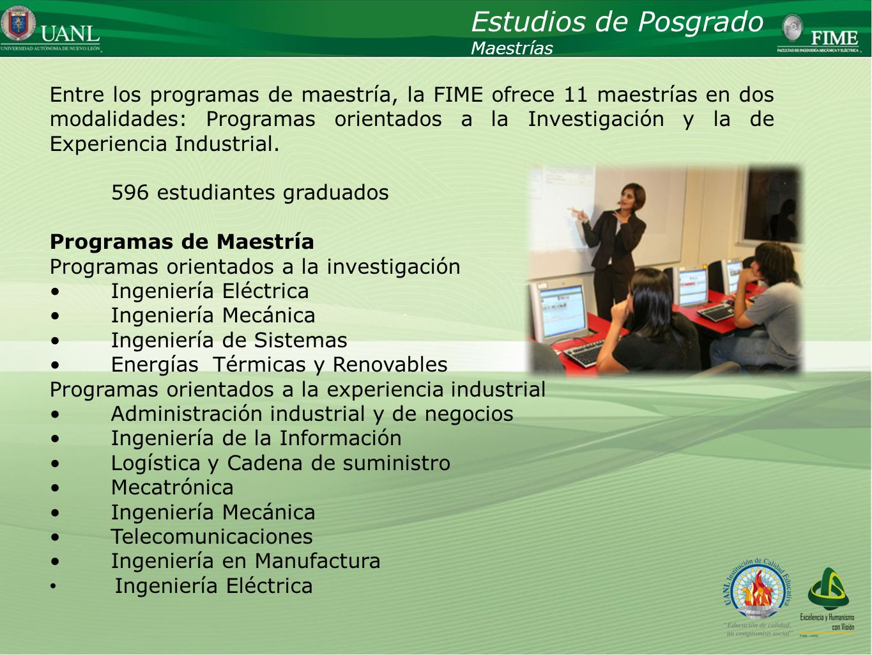 Estudios de Posgrado Maestrías.