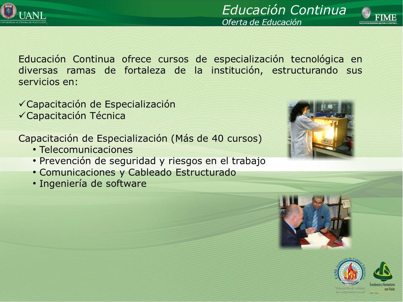 Educación Continua Oferta de Educación.