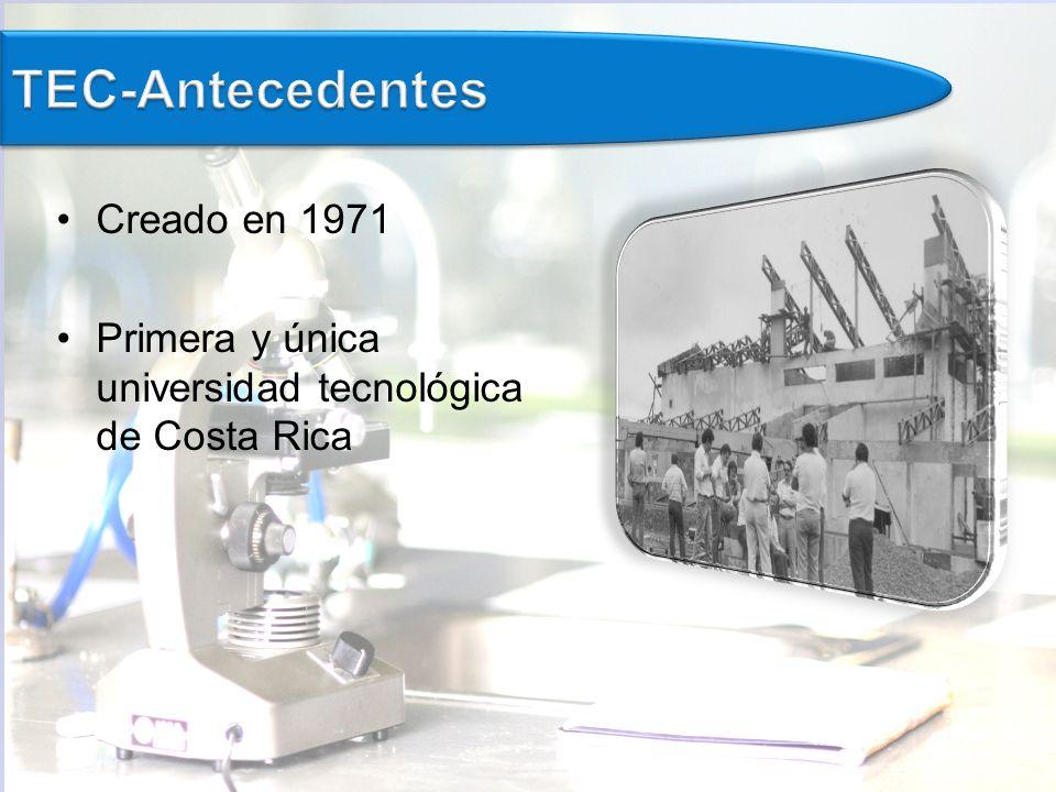 TEC-Antecedentes Creado en 1971