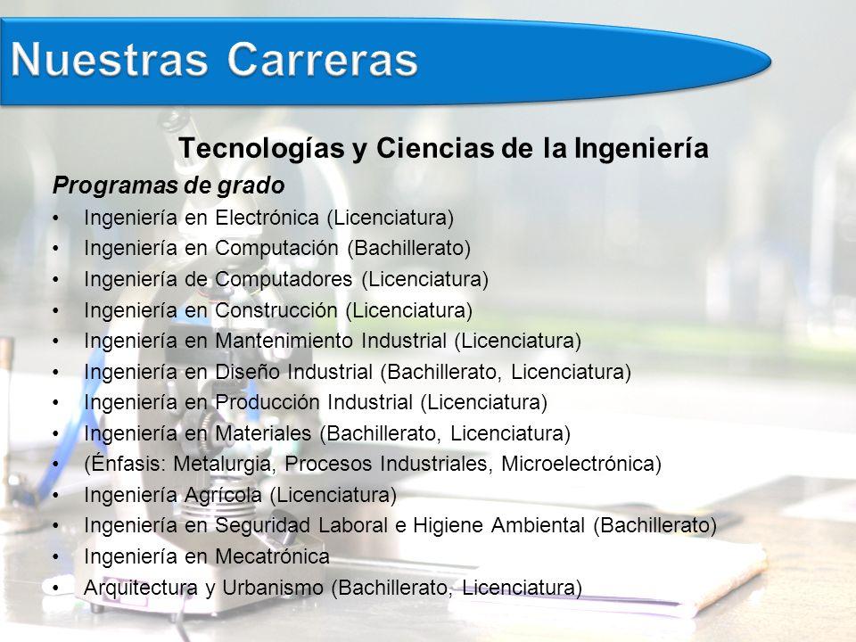 Tecnologías y Ciencias de la Ingeniería
