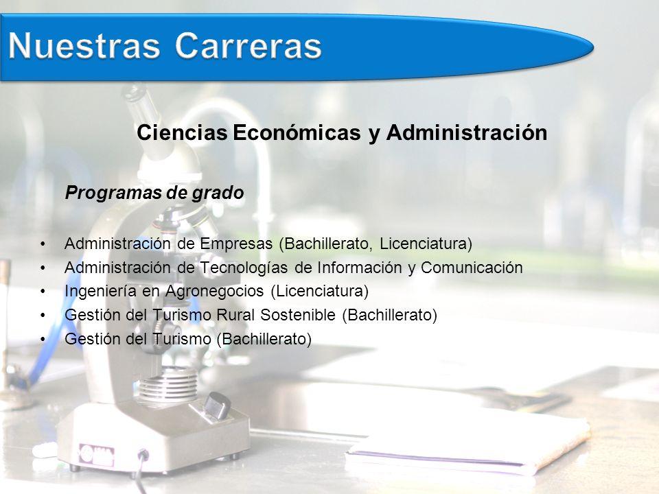 Ciencias Económicas y Administración