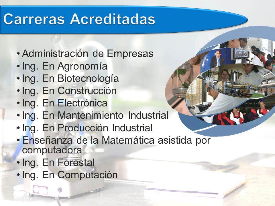Carreras Acreditadas Administración de Empresas Ing. En Agronomía