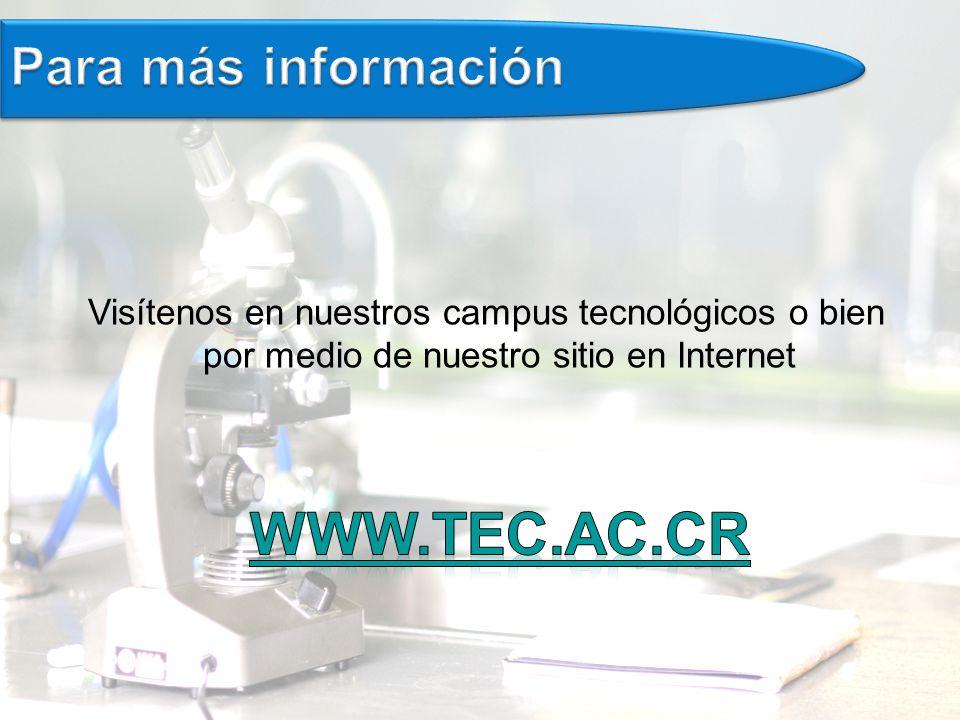 www.tec.AC.cr Para más información