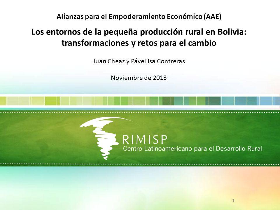 Los entornos de la pequeña producción rural en Bolivia: