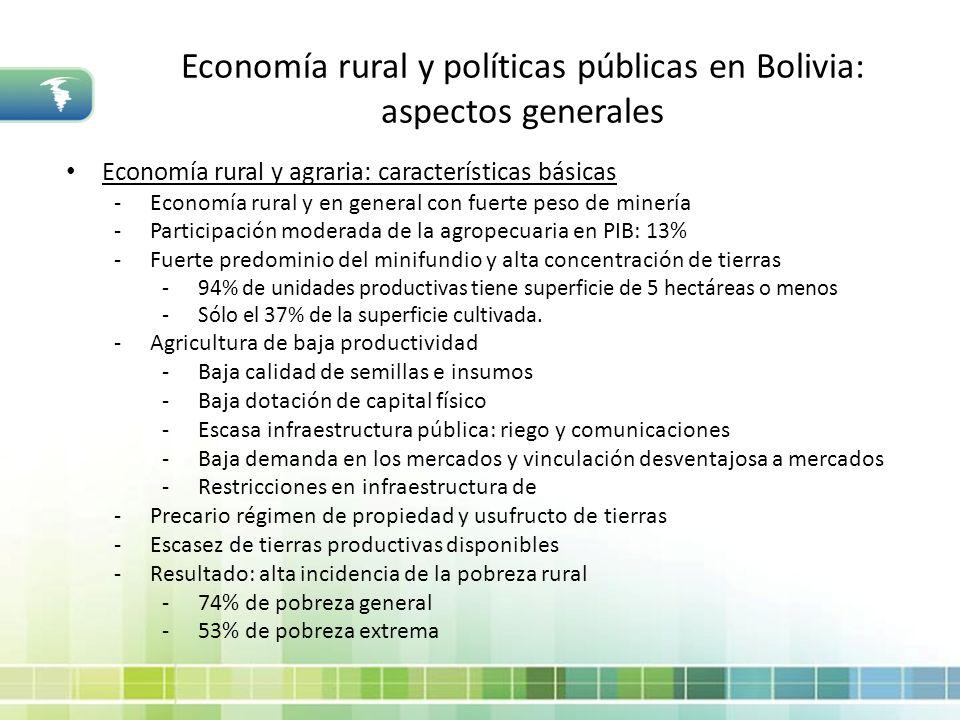 Economía rural y políticas públicas en Bolivia: