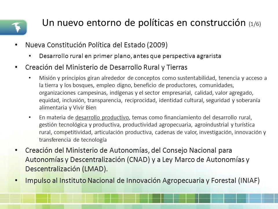 Un nuevo entorno de políticas en construcción (1/6)