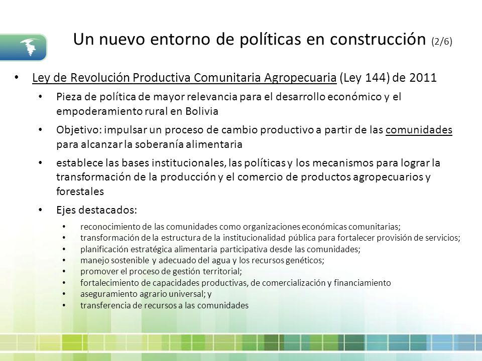 Un nuevo entorno de políticas en construcción (2/6)